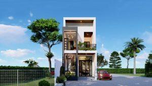 Thiết kế kiến trúc xây dựng nhà phố Đơn Dương Lâm Đồng
