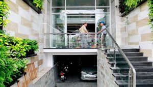 Thiết kế kiến trúc xây dựng nhà phố có tầng bán hầm