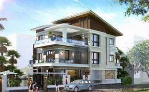 Thiết kế mái biệt thự tại Đà Lạt